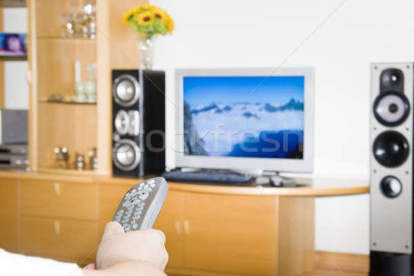 Flipping channels Stock photo © alexeys