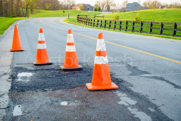 Stock photo: Road repair