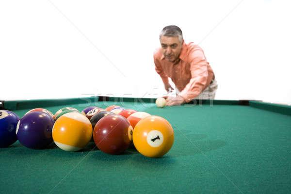 Jogo piscina homem mesa de bilhar esportes tabela Foto stock © alexeys