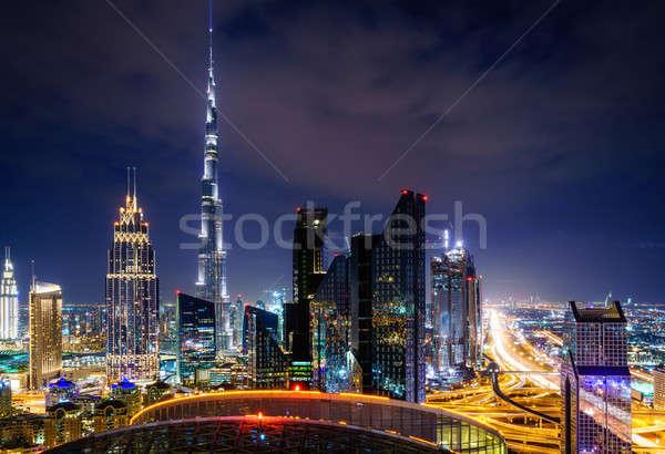 Dubai şehir merkezinde ufuk çizgisi yüksek nokta görmek Stok fotoğraf © alexeys