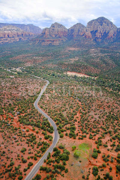Road through Red Rocks Stock photo © alexeys