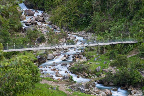 Bridge over stream Stock photo © alexeys
