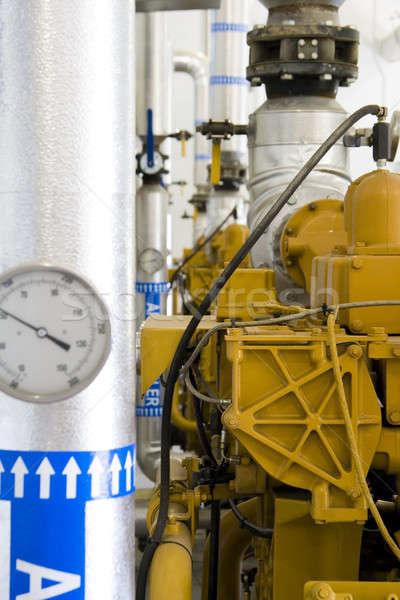 Benzin gyógyulás növény függőleges bent szeméttelep Stock fotó © alexeys
