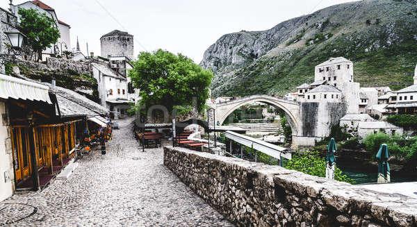 Old street in Mostar Stock photo © alexeys
