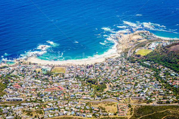 Le Cap Afrique du Sud eau ville paysage Photo stock © alexeys