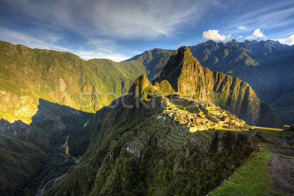 Machu Picchu manzaralı görmek sabah ışık hdr Stok fotoğraf © alexeys