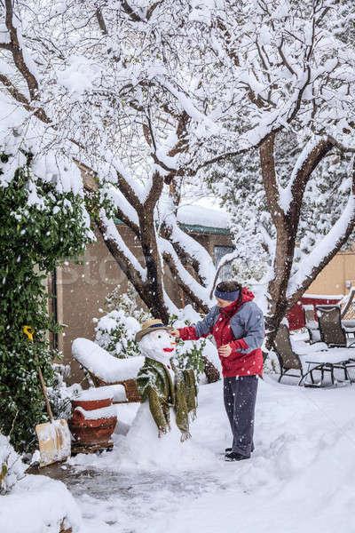 Making snowman Stock photo © alexeys