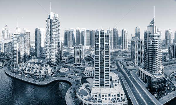 Дубай марина панорамный мнение воды здании Сток-фото © alexeys