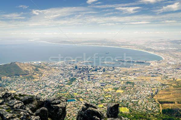 Le Cap vue ville côte table montagne Photo stock © alexeys