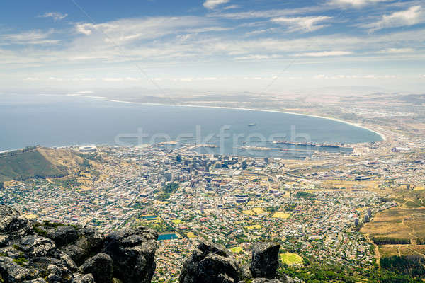 Cape Town stad kust tabel berg Stockfoto © alexeys