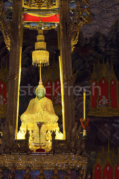Emerald buddha tempel paleis Bangkok Thailand Stockfoto © alexeys