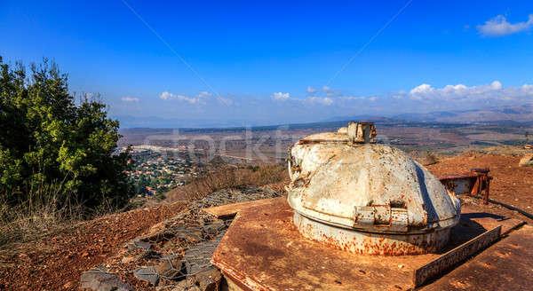 Military bunker on Mount Bental Stock photo © alexeys