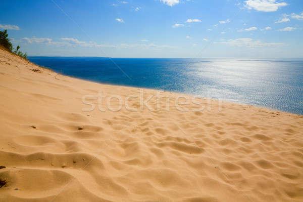 Gelassenheit schönen Ansicht See Michigan schlafen Stock foto © alexeys