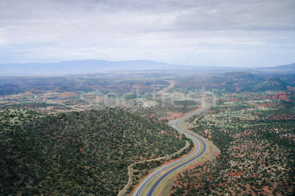 Arizona snelweg vogels oog vallei Stockfoto © alexeys