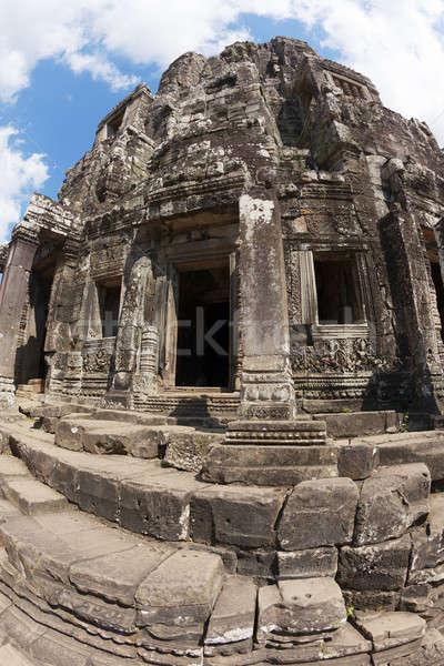 Tempel fisheye een binnenkant angkor Stockfoto © alexeys