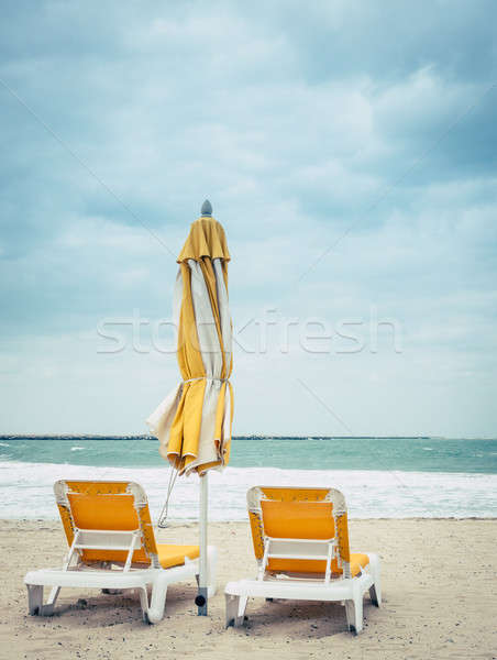 Al Mamzar beach Stock photo © alexeys