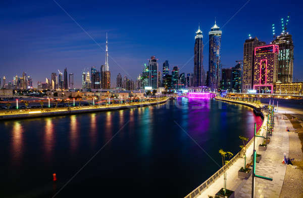 Dubai downtown skyline Stock photo © alexeys