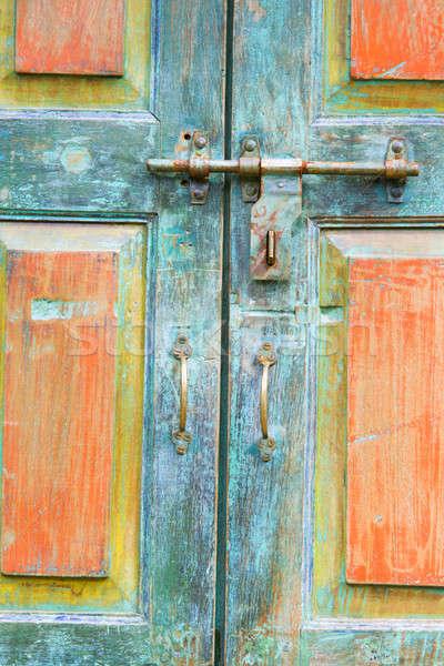Fragment of antique doors Stock photo © alexeys