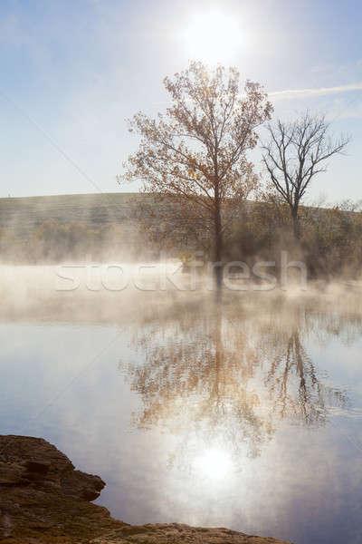 Stock photo: Misty sunrise