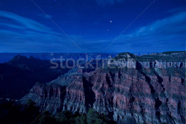 Foto stock: Grand · Canyon · luz · de · la · luna · vista · norte · cielo