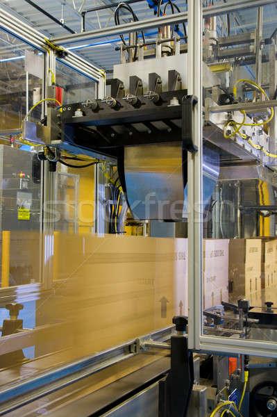 Stock fotó: Csomagolás · vonal · karton · dobozok · mozog · ipari