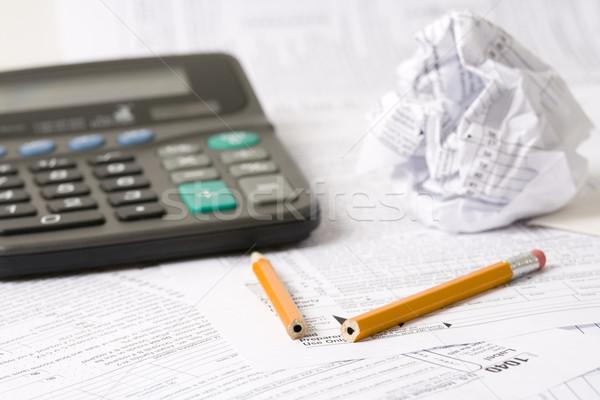 Tax time frustration Stock photo © alexeys