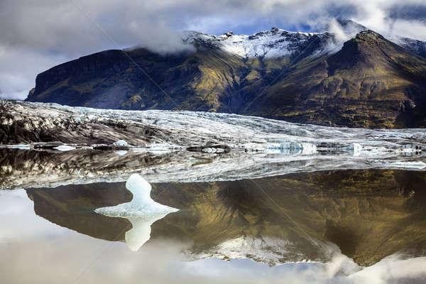 ледник юг Исландия воды облака природы Сток-фото © alexeys