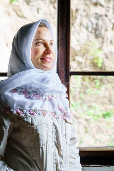 женщину головной платок портрет традиционный монастырь Сток-фото © alexeys