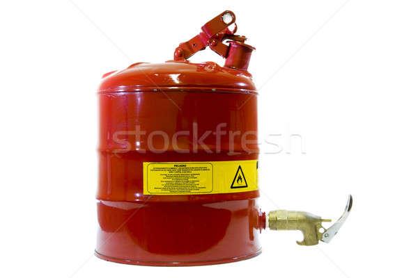 Veiligheid brandbaar container geïsoleerd witte teken Stockfoto © alexeys