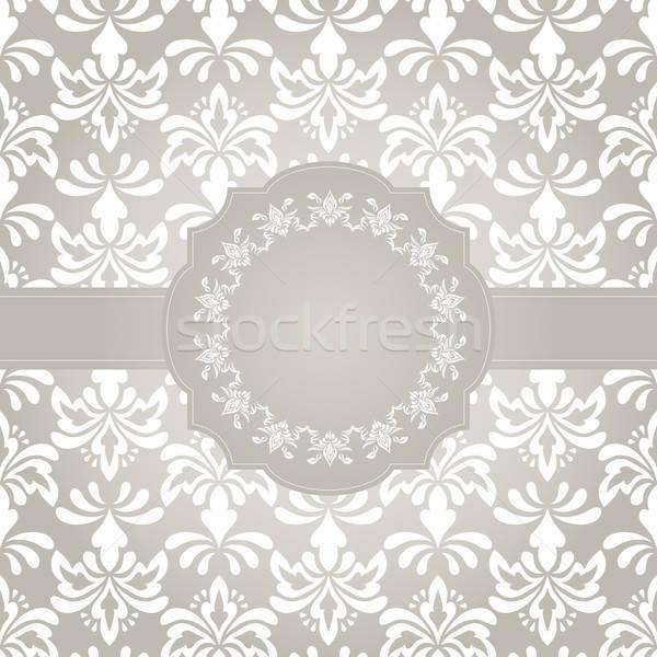 Vektor keret végtelenített régi tapéta minta szöveg Stock fotó © alexmakarova