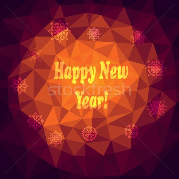 Vektor új év absztrakt boldog terv háttér Stock fotó © alexmakarova