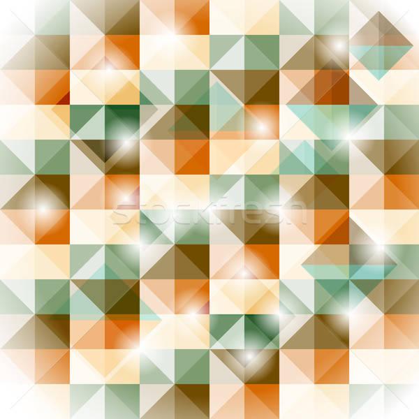 Vector naadloos geometrisch patroon 3D illusie eenvoudige Stockfoto © alexmakarova