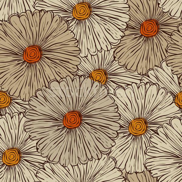 ベクトル 抽象的な 花 eps ストックフォト © alexmakarova