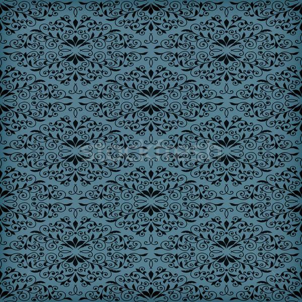 Stok fotoğraf: Vektör · mavi · model · şeffaflık