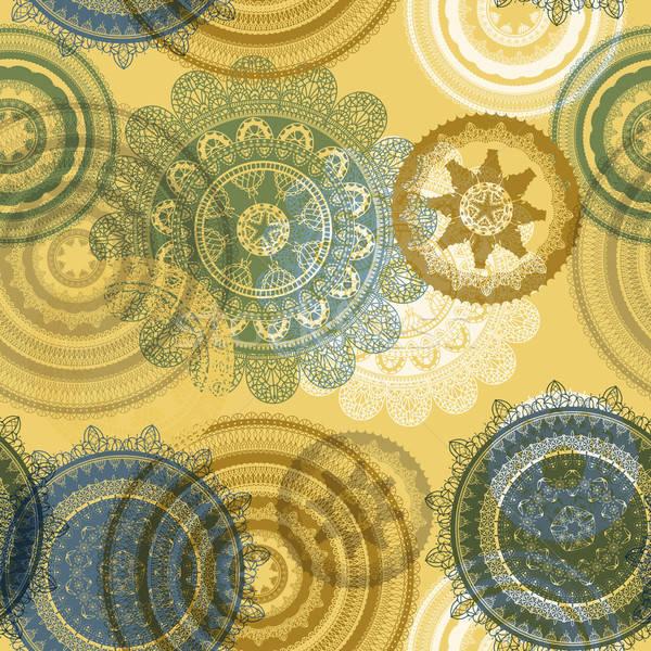 vector seamless pattern with lacy napkins Stock photo © alexmakarova