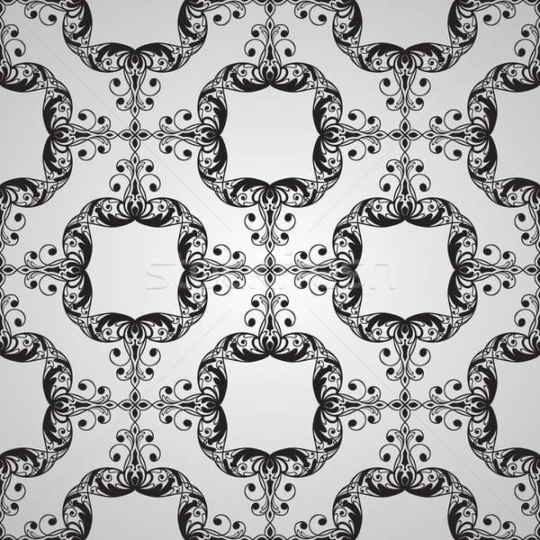 ベクトル シームレス ヴィンテージ フローラル パターン ストックフォト © alexmakarova
