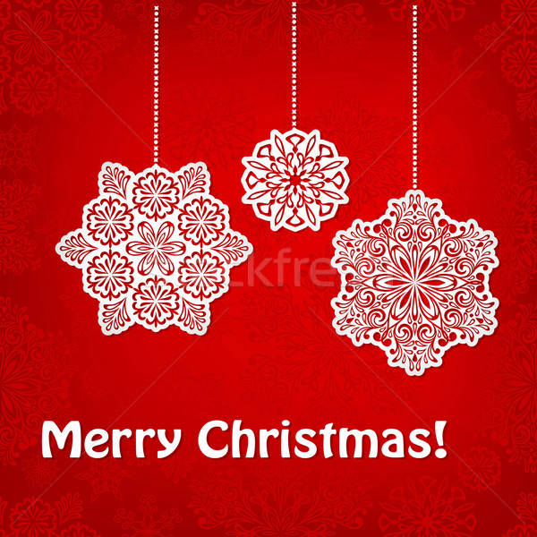 Vector Christmas Greeting Card  Stock photo © alexmakarova