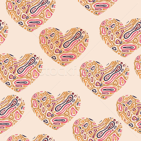 Vector Valentine's Seamless Abstract Pattern Stock photo © alexmakarova