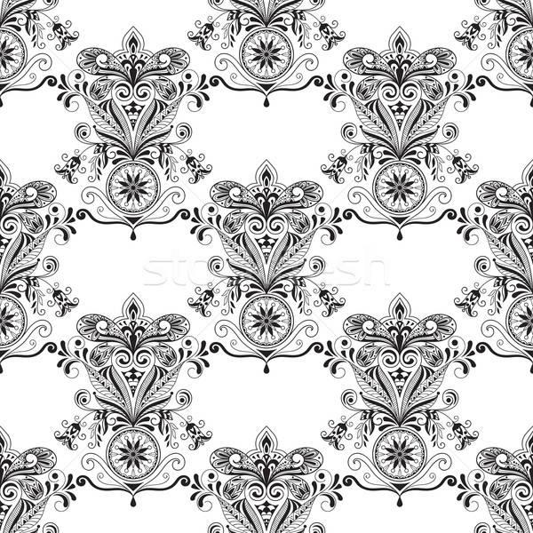 Vector Seamless Paisley Doogle Pattern  Stock photo © alexmakarova