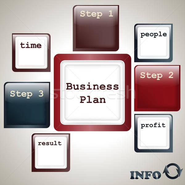 vector business plan template Stock photo © alexmakarova