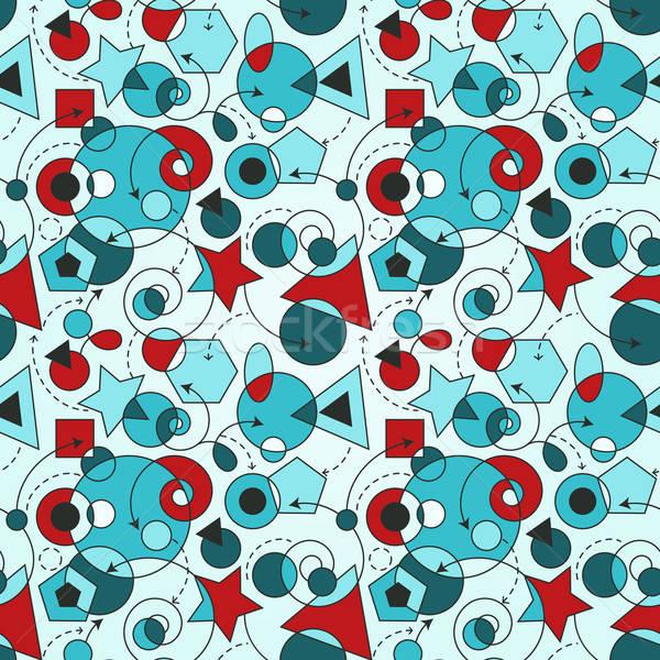 Foto stock: Vetor · abstrato · sem · costura · geométrico · projeto