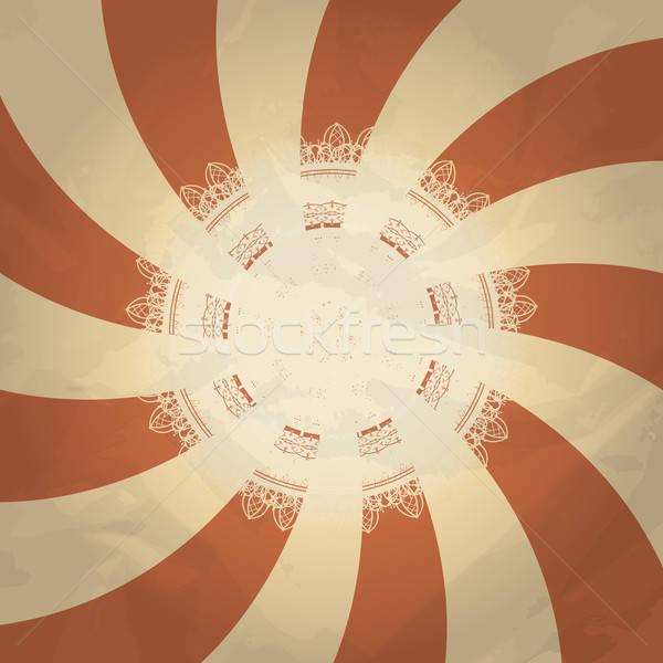 Vector retro abstract patroon plaats tekst Stockfoto © alexmakarova