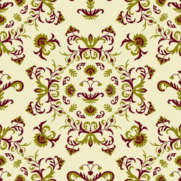 ベクトル シームレス フローラル パターン 抽象的な ストックフォト © alexmakarova