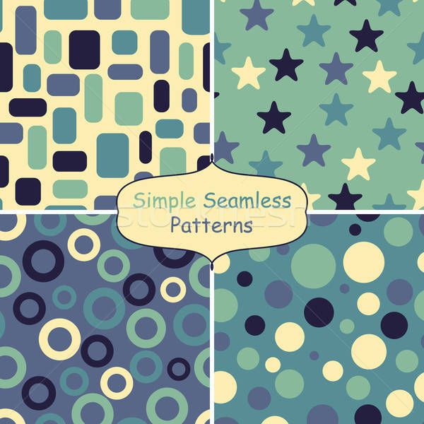 four abstract vector seamless patterns Stock photo © alexmakarova