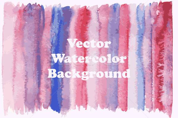Vector Watercolor Striped Background Stock photo © alexmakarova