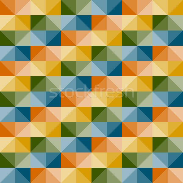 Vettore senza soluzione di continuità disegno geometrico 3D illusione semplice Foto d'archivio © alexmakarova
