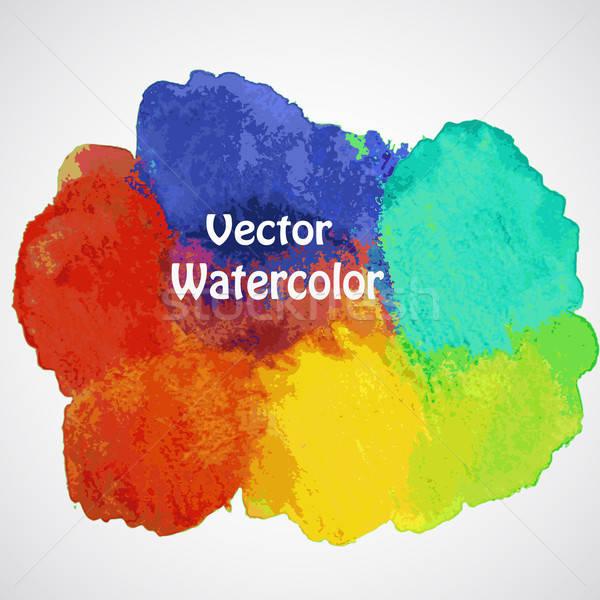 Vektor színes absztrakt kézzel rajzolt vízfesték hely Stock fotó © alexmakarova