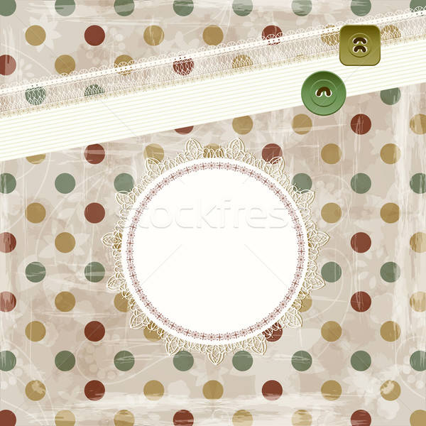 vector retro  background with frames for your text and buttons Stock photo © alexmakarova