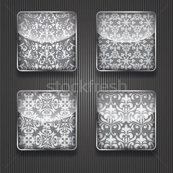 アイコン ベクトル フローラル パターン 透明 ストックフォト © alexmakarova