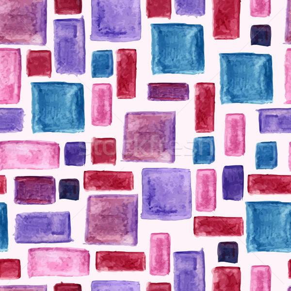 Stockfoto: Vector · naadloos · aquarel · patroon